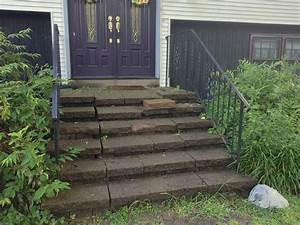 Scary Front Steps To Stunning Porch
