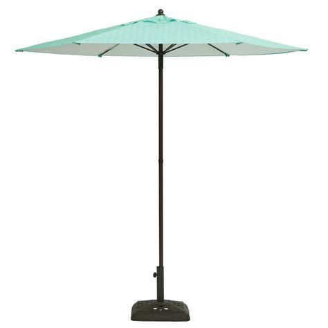 Hton Bay Patio Umbrella Base by Hton Bay 7 1 2 Ft Steel Push Up Patio Umbrella In Geo