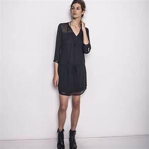 robe noire ikks bg30015 vetement femme hiver 15 With robe noire ikks