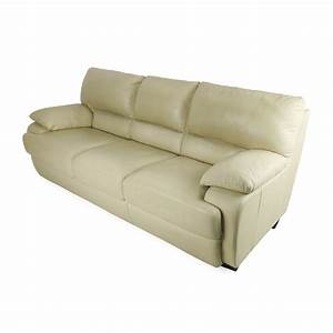 75 off tan leather couch sofas With tan leather sofa bed