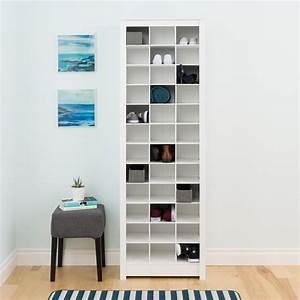 Prepac White Space-Saving Shoe Storage Cabinet-WUSR-0009-1