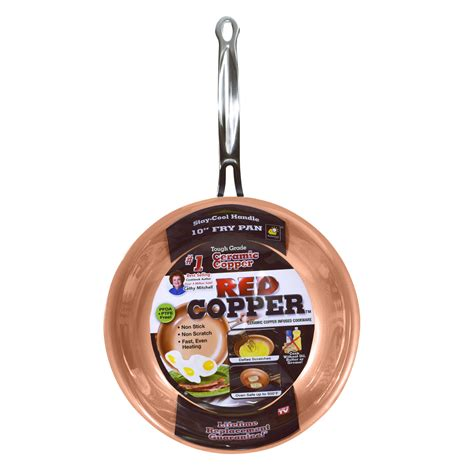tv  red copper frying pan shop    shopping earn points  tools