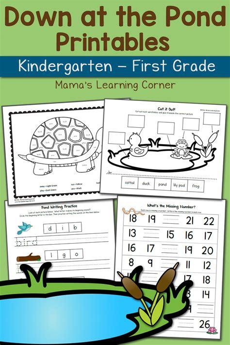pond worksheets  kindergarten   grade updated