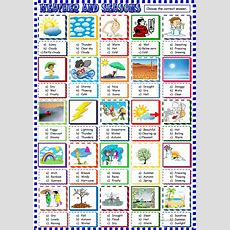 Weather And Seasons Multiple Choice Activity Worksheet  Free Esl Printable Worksheets Made By