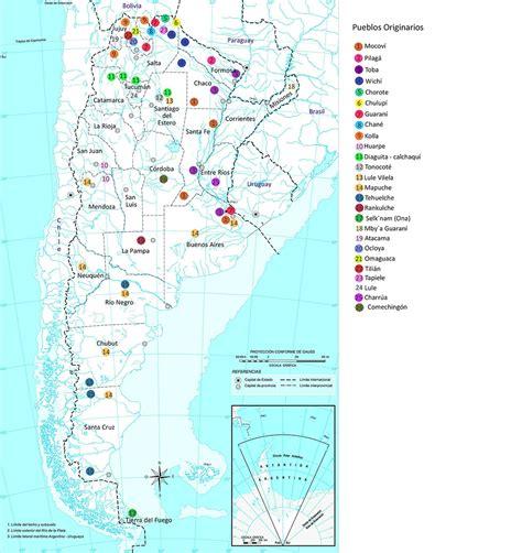 Mapa de los Pueblos Originarios de Argentina CISEI