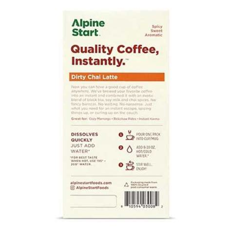 After brewing the coffee in small batches, a proprietary process is used to extract the coffee to its fullest flavor. Alpine Start Original Blend Medium Roast Instant Coffee | SCHEELS.com