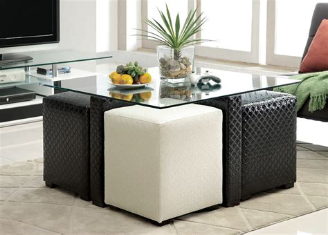 Round Coffee Table With Stools Underneath   Roundtables