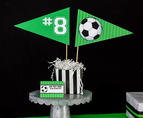 soccer party decorations  invitation set printable studio
