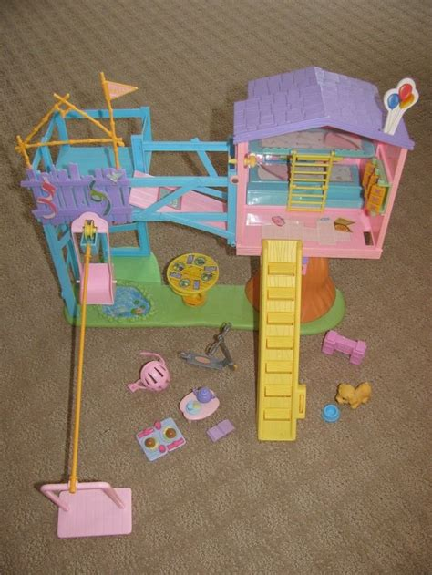 There is a table, chair, secret trap door and more! Barbie Kelly Lots of Secrets Clubhouse Treehouse Slide ...