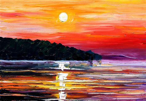 sunset melody painting by leonid afremov