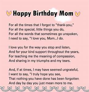 lovely happy birthday letter to mom from son With to my mom on my wedding day letter