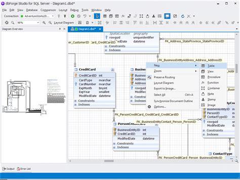 visual  designer  sql server data modelling tool