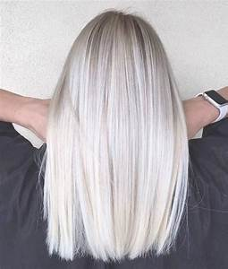 Blond Grau Haarfarbe : graue haarfarbe grau blonde mittellange glatte haare haarfrisuren frauen haare ~ Frokenaadalensverden.com Haus und Dekorationen