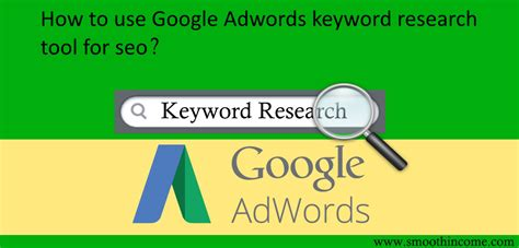 seo step by step how to use adwords keyword research tool for seo