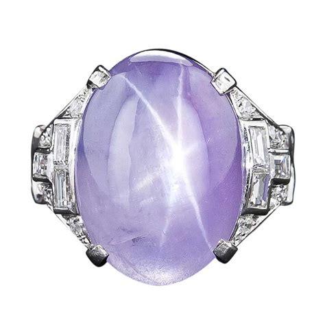 star sapphire ring  platinum  diamonds alainrtruong