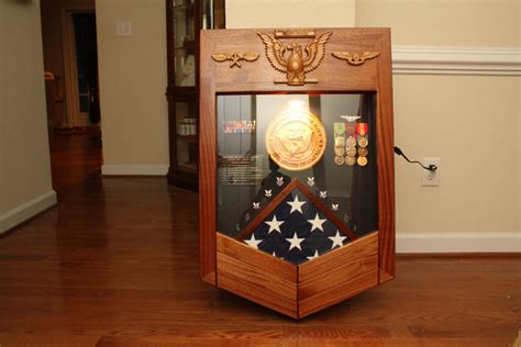 navy petty officer  class military shadow box