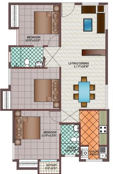 floor plans for 20x60 house 800 sq ft house plans with vastu