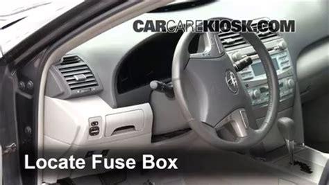 interior fuse box location   toyota camry