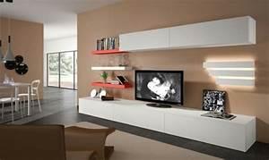 Meuble Tv Long : meuble tv long blanc laqu maison et mobilier d 39 int rieur ~ Teatrodelosmanantiales.com Idées de Décoration