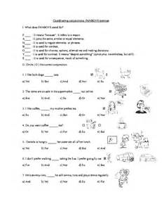 Fanboys Coordinating Conjunctions Worksheets