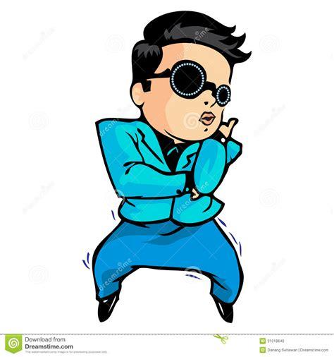 Gangnam Style Dance Stock Vector Illustration Of