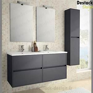 meuble vasque pour wc With salle de bain design avec meuble salle de bain gris