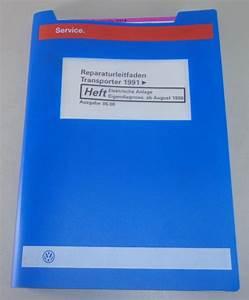 Workshop Manual Vw Bus  Transporter T4 Electrical System