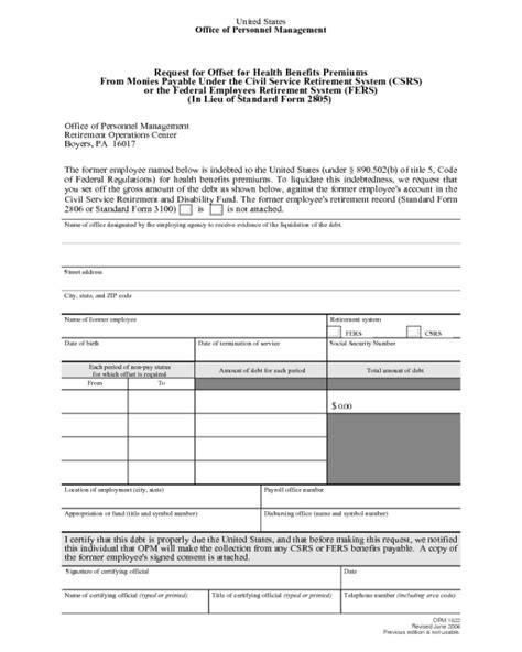 opm form 1522 edit fill sign online handypdf