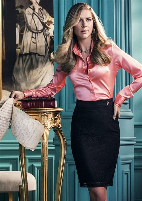 Classy Satin Blouse With Pencil Skirt Satin Special S