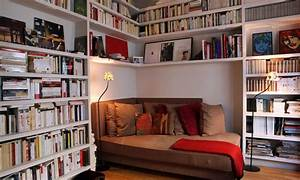 Elegant, Picture, Of, Small, Home, Library, Design, Ideas