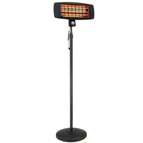 la hacienda electric garden patio heater quartz height