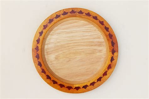 Round Wood Boat by Buy Round Boat Wood Inlay Tray Wooden Handcrafted