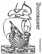 Pirate Ship Coloring Pages Outline Pirates Ships Boys Boat Printable Buccaneer Boats Skulls Colouring Cartoon Hard Creative Yescoloring Seas Oats sketch template