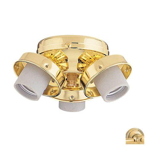 shop nicor lighting 3 light polished brass ceiling fan