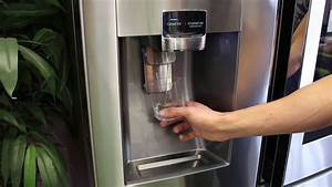 Samsung Family Hub  How To Use The Ice Machine