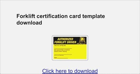 We developed this forklift training guide for business owners with the intent of answering the many questions we have received, regarding osha forklift certification. Free Forklift License Template Download : Forklift Operator Card Template Carlynstudio Us - The ...