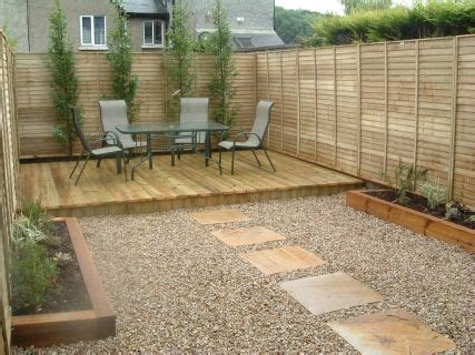 High Quality Decking by Small Deck In Corner Of Fences Small Garden Paving