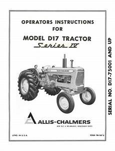 Allis Chalmers Model C Tractor Wiring Diagram : allis chalmers 400 series farm loader operator 39 s manual ~ A.2002-acura-tl-radio.info Haus und Dekorationen