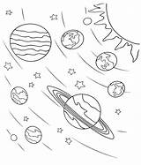 Coloring Pages Planets Space sketch template
