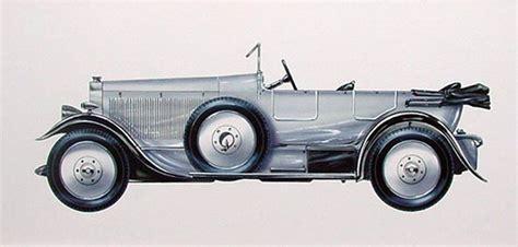 Vintage Car Illustration-leyland Eight 1921