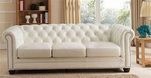Monaco, Pearl, White, Leather, Living, Room, Set, From, Amax, Leather