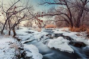 Beautiful winter landscapes – the Krynka River · Ukraine travel blog