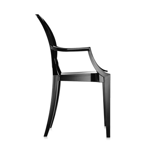 buy kartell louis ghost armchair glossy black amara