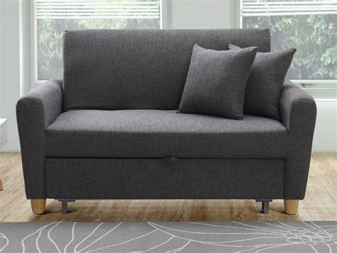 canapé assise canapé 2p convertible en tissu prune ou gris xavier