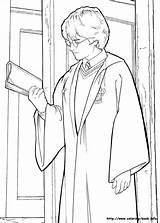 Potter Harry Coloring Pages Chamber Secrets Colouring sketch template