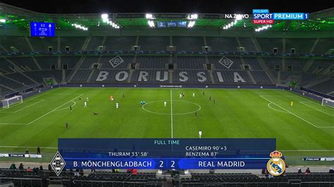 UEFA Group B : Borussia Monchengladbach 2 vs 2 Real Madrid ...