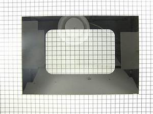 Ge Wb57t10078 Ovn Dr Outer Glass  Blk