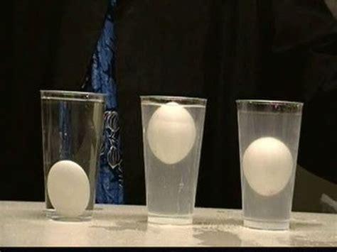 float  egg   middle  water density colume