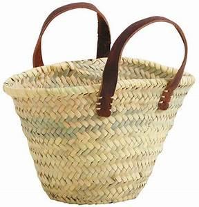 Panier En Osier Souple : petit panier enfant en palmier et cuir naturel ~ Nature-et-papiers.com Idées de Décoration