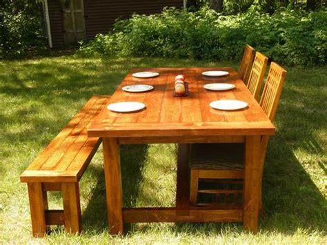 custom  farmhouse style dining table  bench